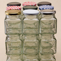 293ml Square Jam Jars - bargain pack (192 including lids)