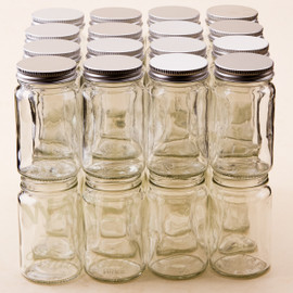 4oz  (113 grms) Glass Spice Jars - bargain pack (192 including lids)
