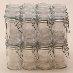 72ml Small Cylindrical Clip Jars - bargain pack (192)