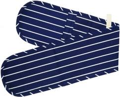 Blue Butcher's Striped Double Oven Glove