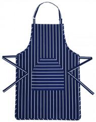 Blue Butcher's Striped Apron