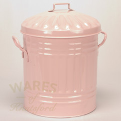 Galvanised Metal Painted Mini Dustbin in Pink