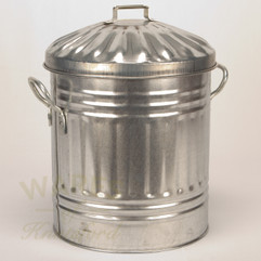 Galvanised Mini Dustbin