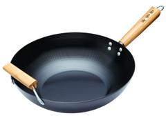 Pure Oriental Carbon Steel 35cm Non-Stick Wok