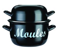 Enamelled Steel 18cm Mussels Pot