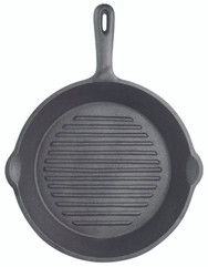 Cast Iron 24cm Round Ribbed Grill Pan