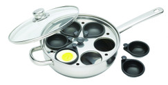 Stainless Steel Six Hole Egg Poacher