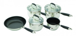 Stainless Steel Five Piece Pan Set