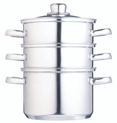 Clearview Stainless Steel Three Tier 18cm Steamer