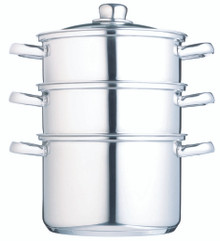 Clearview Stainless Steel Three Tier 22cm Steamer