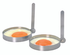 Two Stainless Steel Round Egg Rings