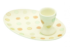 Egg Cup and Plate Breakfast Set