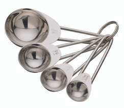 Stainless Steel Four Piece Measuring Spoon Set