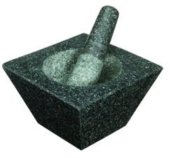 Square Granite Mortar and Pestle