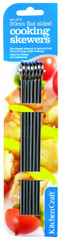 Pack of Six 20cm Flat Sided Skewers