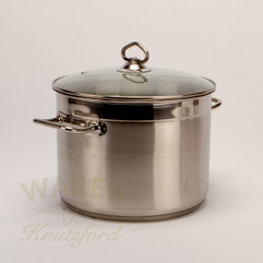 Stainless Steel Stockpot with Glass Lid 7.5ltr