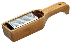 Italian Collection Bamboo Grater with Holder