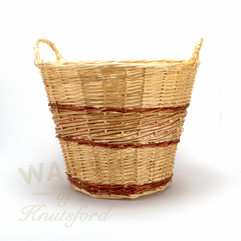 Wicker Log Basket Lightweight