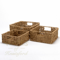Seagrass Square Baskets set of 3