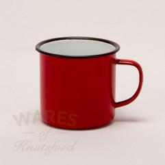 Falcon Enamel Mugs Red (Set of 4)