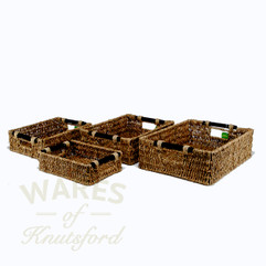 Seagrass Rectangular Baskets Set of 4