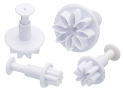 Flower Fondant Plunger Cutters (Set of Four)