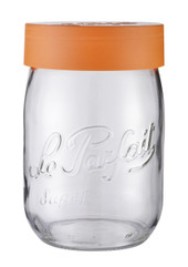1000ml Le Parfait Orange Top Storage Jar