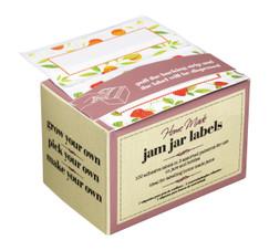 Pack of 100 Self-Adhesive Assorted Preserve Jar Labels