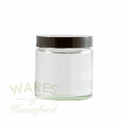 120ml Clear Glass Cosmetic Jar - bargain pack (192 including lids)