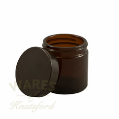 60ml Amber Glass Cosmetic Jars - bargain pack (192 including lids)