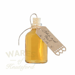 Small glass bottles with corks. These bottles have a 50ml capacity and are supplied with  a tapered cork.