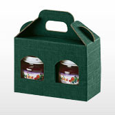 2 Jar Gift Box in Green - Small