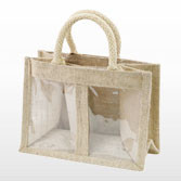 Jute Bag Small - with Two Display Windows