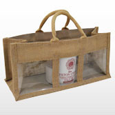 Jute Bag with Three Display Windows - Medium