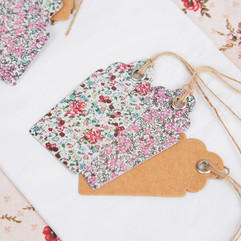 Mini Floral Gift Tag Set of 15