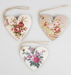 Vintage Rose Heart Gift Tag Set of 15