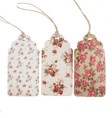 Vintage Rose Gift Tag Set of 15