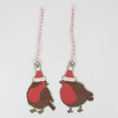 Christmas Robin Gift Tags - Set of 10
