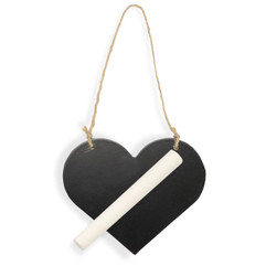 Mini Chalk Board Heart with Chalk (sold singly)