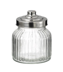 Small Vintage Style Glass Storage Jar With Metal Screw lid (sold singly)