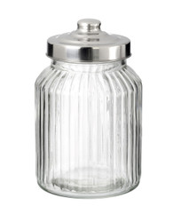 Medium Vintage Style Glass Storage Jar with Metal Screw Lid (sold singly)