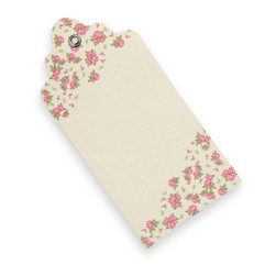 Country Garden Luggage Tag Ivory (Pack of 10)