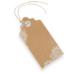 Luggage Tag with Lace Detail (Pack of 10)