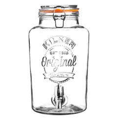 8 Litre Kilner Drinks Dispenser in Clear Glass
