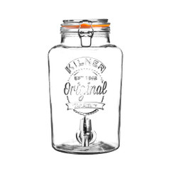 Kilner 5 Litre Dispenser in Clear Glass