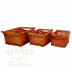 Wicker Baskets - Set of 3