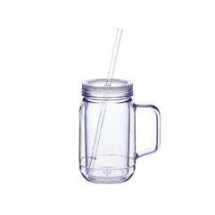 Plastic Drinking Jar 400ml with screw on lid