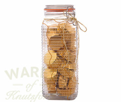 BFG Giant Chiddlers dream Jar (2.2 Litre) Ribbed  Glass Clip Top Jar (sold in singles/6/12)