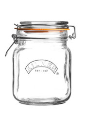 Kilner Clip Top Original Square 1 Litre Jar