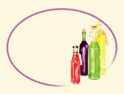 Sauce bottle labels, oil bottle labels, Cordial Labels